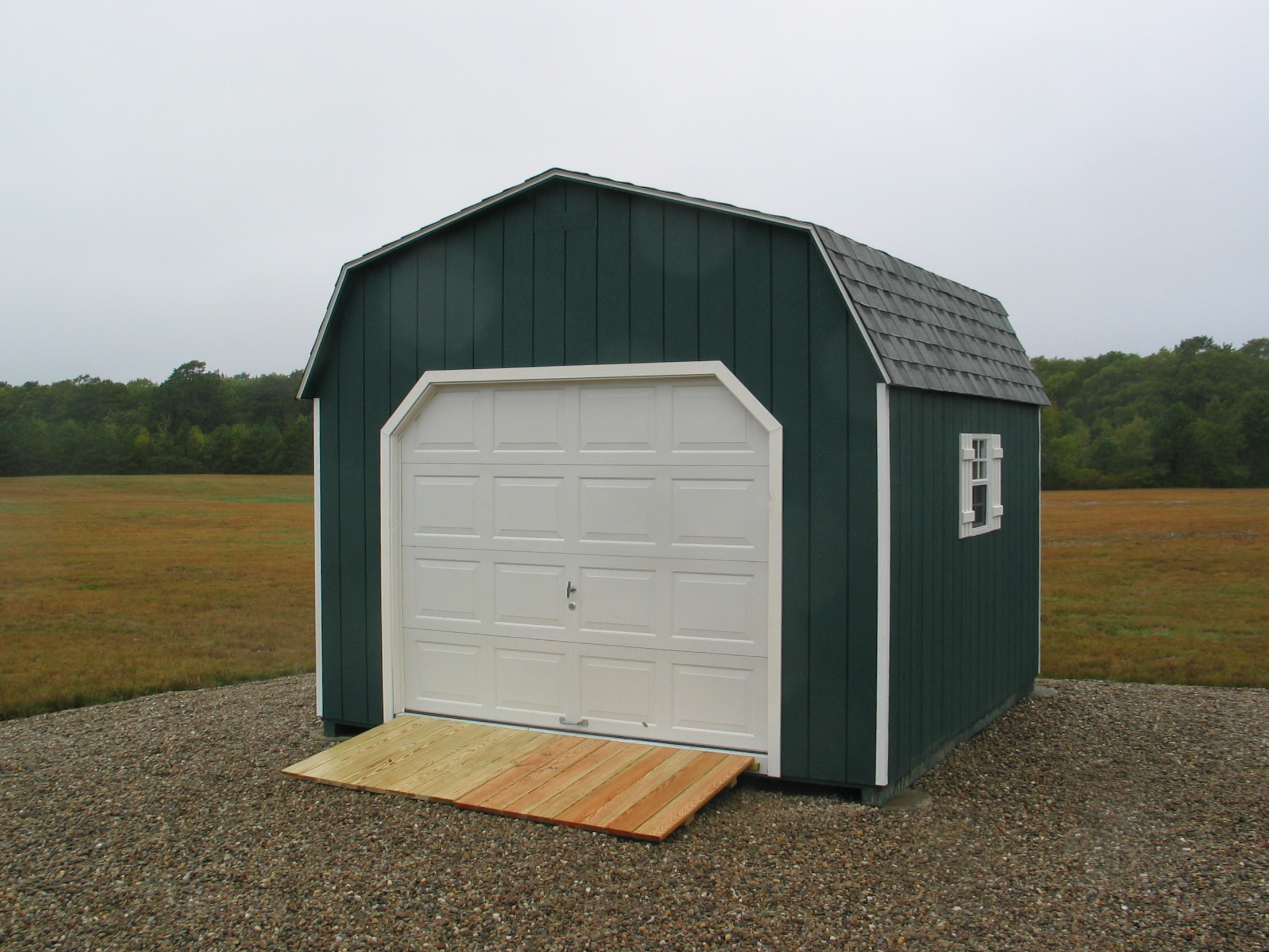 The shed place for 12x12 overhead door