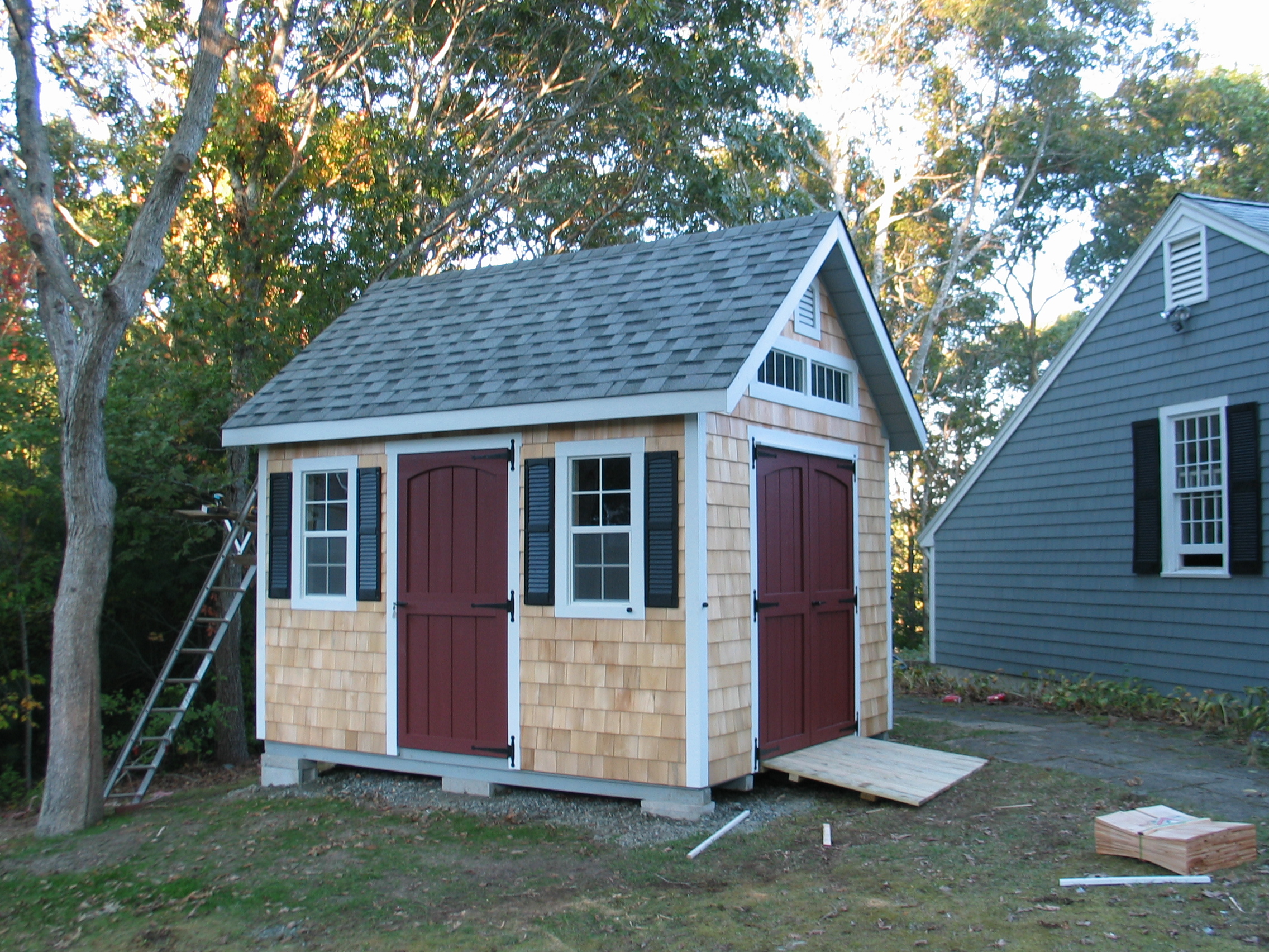 The shed place for Cedar shingle shed