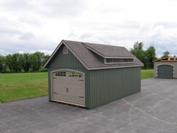 12x24 Manor A-F Garage with mini dormer