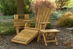 Folding Adirondack Chair, Ottoman and Tables