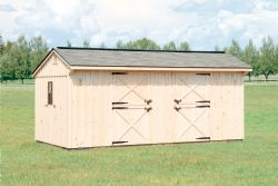 10x20 Board and Batten 2 Stall Horse Barn