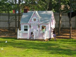 6x8 Victorian Playhouse with deck